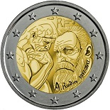 2 euros commemorative 2017 france rodin